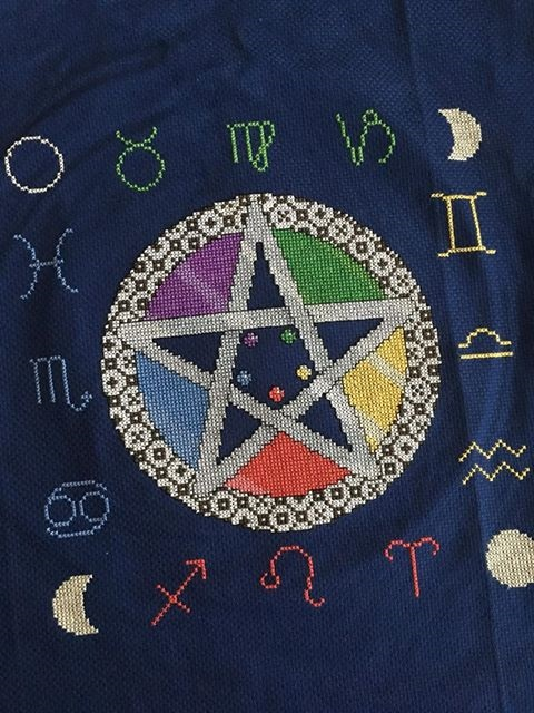 Astro Pentagram Cross Stitch