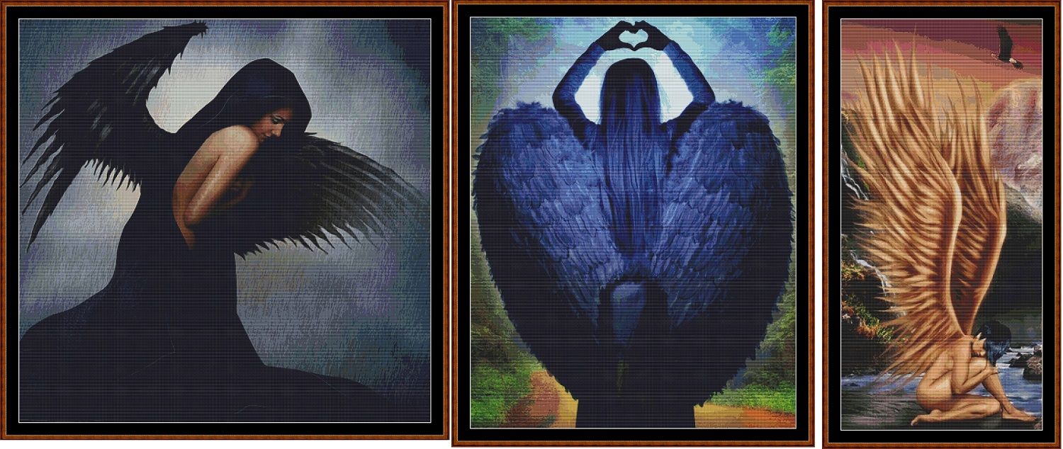 Angels 3 Cross Stitch Charts Pack