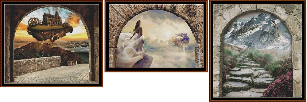 Archway To... 3 Cross Stitch Charts Pack