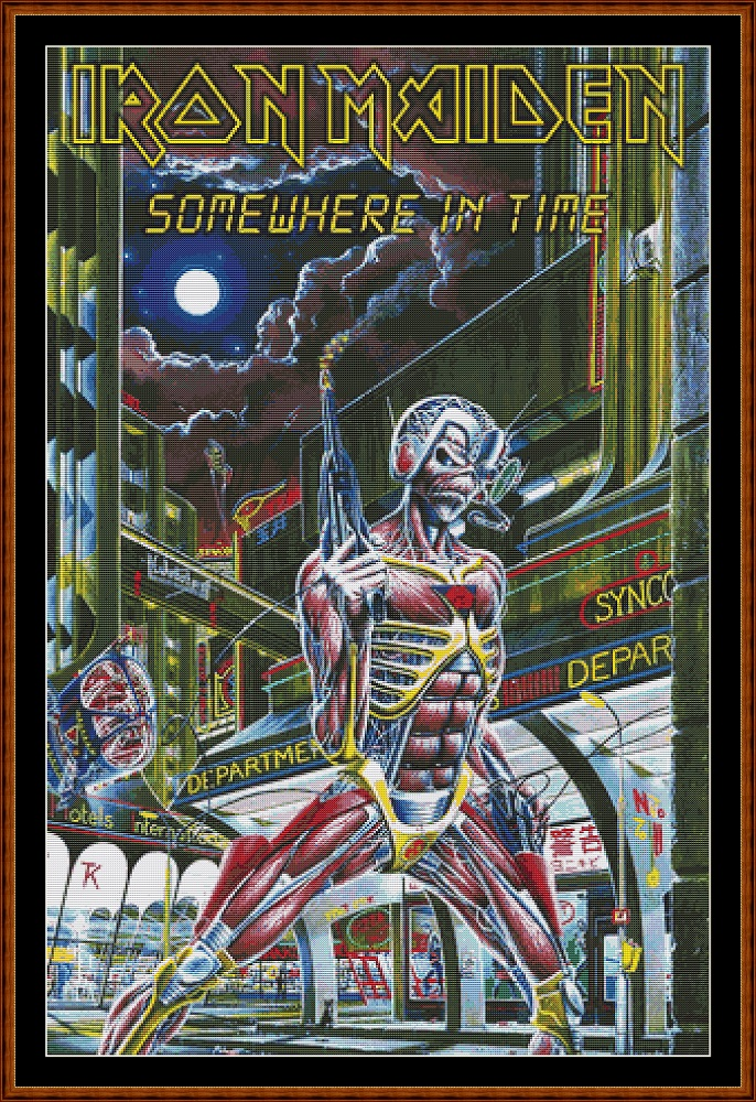 Iron Maiden - Somewhere In Time Cross Stitch