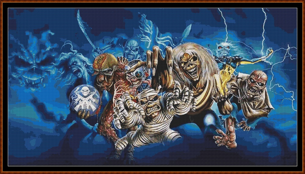 Iron Maiden 2 Cross Stitch
