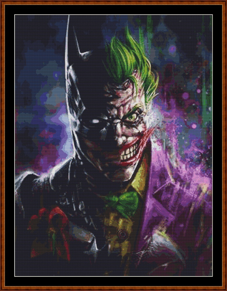 Joker Bat Cross Stitch